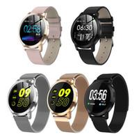 ingrosso la frequenza cardiaca controlla le donne-CF18 Smart Watch OLED Schermo a colori Smartwatch Fashion Fitness Tracker Monitor per la misurazione della pressione arteriosa per uomini donne