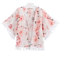 schmetterlingsblumenkleidung großhandel-Baby-Pfingstrose Outwear scherzt Manteau-Baby-Designer-Kleidungs-Schmetterlings-Blumendrucken dünnen Mantel vier Jahreszeiten 43