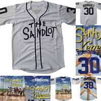 leyenda de la nave al por mayor-30 Benny 'The Jet' Rodriguez The Sandlot Legends Béisbol Jersey Hombre Nombre y número cosidos Jerseys Blanco Envío gratis