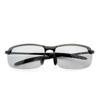 ingrosso uv visione notturna-Occhiali da sole a colori da uomo che guidano occhiali da sole polarizzati da guida Occhiali anti-UV Chameleon Occhiali da vista Night Day Occhiali da guida