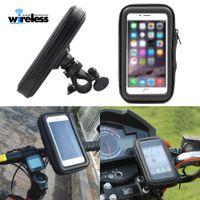 suporte de bicicleta venda por atacado-Suporte do telefone da motocicleta da bicicleta suporte por telefone para moto stand saco para iphone x 8 plus s10 gps bicicleta titular à prova d 'água capa case