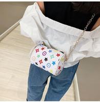 eine alte taschen großhandel-Großhandel kinder handtaschen 2019 europa und amerika stil mädchen prinzessin purses alte blume gedruckt kette umhängetaschen