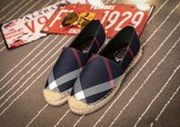 zapatos a cuadros al por mayor-Promoción Para mujer Alpargatas Calzado de pescador Informal Rejillas Lona pelada Resbalón En Snickers Skate Ballet Flats Mocasines