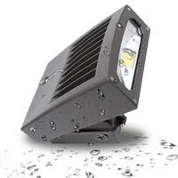 лампы hps оптовых-30W 70W 100W LED Настенный светильник Настенный светильник 5000K Дневной свет HPS / HID Замена Открытый светодиодный светильник безопасности с ETL DLC в списке