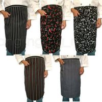 Wholesale chefs aprons for women for sale - Group buy Kitchen Aprons Adjustable Unisex Stripe Bib Apron With Pockets Catering Chef Waiter Bar Kitchen Apron Cook Tool For Man Woman LJJR234