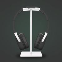 kulaklık takmak toptan satış-Yeni Arı Moda Ekran Kulaklık Standı Kulaklık Tutucu Kulaklık Braketi Kulaklık Askı Metal ve Yumuşak TUP için Kulaklık Siyah