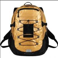 harita çantaları toptan satış-Tasarımcı Metal renk sırt çantası ortak adı kar dağ haritası yaprak döken sırt çantası spor seyahat çantası ins su geçirmez çanta tasarımcısı cüzdan