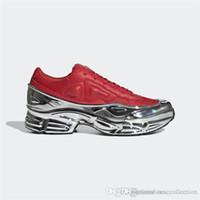 плоские пиратские ботинки оптовых-Новейшие женские кроссовки Raf Simons Большие кроссовки, Ozweego. Серебристые туфли с эффектом металлик. Подошва Спортивный тренажер Разноцветный Размер 35-40