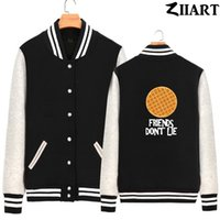 fleece-baseballjacke frauen großhandel-Waffel FREUNDE NICHT LIEGEN Fremde Dinge Valentine Dekoriert Cookies Frau Full Zip Herbst Winter Fleece Baseball Jacken ZIIART