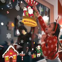 yılbaşı ağacı pencere çıkartmaları toptan satış-SICAK Merry Christmas Tree Star Duvar Etiketler Ev Çıkartmaları Salon Dekorasyon DIY PVC Festivali Pencere