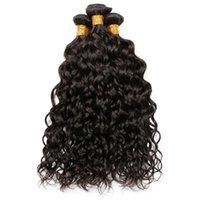 remy виргинские индийские влажные волнистые волосы оптовых-9A бразильский Индийский малайзийский перуанский волна воды девственные человеческие волосы ткет пучки влажные и волнистые Реми наращивание человеческих волос естественный цвет