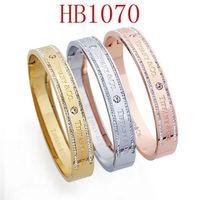 pulseira de letras venda por atacado-Ti designer de pulseira de jóias mulheres pulseira de aço inoxidável Designer de pulseira para senhoras T letras com Dimonds Drop Shipping