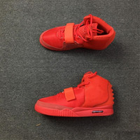 Wholesale basketball shoes sale free shipping resale online - With Box Hot sale Kanye West Red NRG RED PINK Basketball Shoes Men