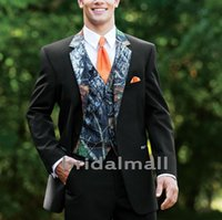 Wholesale ties wear blue tuxedo for sale - Group buy Handsome Camo Wedding Tuxedos Farm Wedding Camouflage Suit Custom Made Slim Fit Mens Blazers Formal Groom Wear Jacket Pants Vest Tie