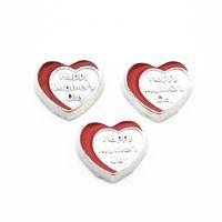 10pcs 30mm Retro color heart floating Locket fit DIY living  floating charms
