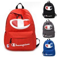 Wholesale 13 14 inch laptops online - Champions Backpack Women Men Laptop Shoulder Bags Letter Print Backpacks Large Capacity Travel School Bag cm Color Hotsell C422