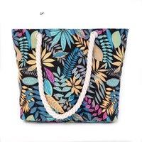 ingrosso stampa su tela-buona qualità Nuovo arrivo floreale stampato tela femminile singolo shopping bags grande capacità donne tela borse da spiaggia casual Tote Feminina