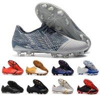 erkek boyutu 39 siyah ayakkabı toptan satış-Sıcak Phantom Venom VNM Elite FG Erkekler Parlak Crimson / Siyah Futbol Futbol Ayakkabıları Boyutu ABD 39-45