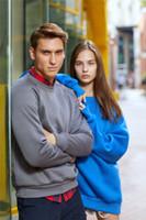 schlichte farbpullover großhandel-Frauen der Männer Designer Sport Pullover Klassisch Pullover Langarm-Pullover Plain Sweater Lässige Solid Color Sweatshirt Top Unisex Coat