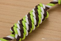 Wholesale great toys resale online - Fashion Molar Rope Dog Toy Rope Dog Chew Toys Set Cotton Braided Bone Rope Color Great for Aggressive Chewers cm