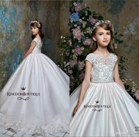 Wholesale tutu wedding for sale - Group buy 2020 Sheer Neck Tulle Arabic Style Flower Girl Dresses Vintage Girl Tutu Pageant Dresses Formal Flower Girl Dresses For Wedding