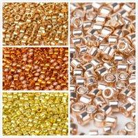 желтые золотые гвозди оптовых-Taidian DB410 оцинкованная желтое золото Миюки стеклянные бусины горный хрусталь ногтей искусство декор 1.6x1.3mm 1gram / лот