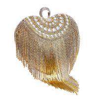 ingrosso vestito da sera-Designer La MaxZa Tassel Bag Fruitless Luxurious Bag Best Seller Ladies Dress Dinner Wedding Clutch Spettacolo serale