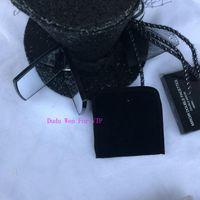 ingrosso borse per attrezzi vintage-Specchio per il trucco di lusso C Mark Faccette in stile vintage a doppia moda Strumenti di cosmetici con scatola regalo VIP e sacchetto di polvere di velluto