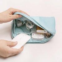 saco de unidade flash usb venda por atacado-2019 portátil organizador impermeável saco de armazenamento para acessórios eletrônicos-cabos de dados fone de ouvido usb flash drive pc carregador