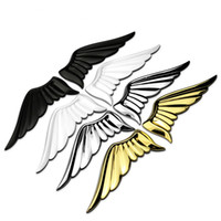 Wholesale wing car body sticker resale online - 1 pair Car personalities angel wings metal body sticker tail D decorative sticker