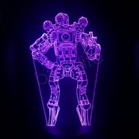 decorações de mesa iluminadas venda por atacado-APEX Legends Noite Lâmpada Led Noite Luz PathFinder Noite Lâmpada Quarto Decoração Lâmpadas de Mesa de Presente Novidade Itens GGA1728