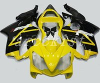 комплект обтекателей honda f4i желтый оптовых-4Gifts Новый инжекционный ABS обтекатель для велосипеда, пригодный для обтекателей HONDA CBR 600 F4i 2001 2002 2003 CBR600 FS F4i кузов 01 02 03 Nice желтый черный