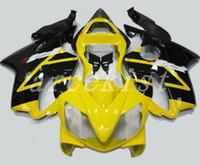 kits de corpo honda fit venda por atacado-4Gifts Novos kits de Carenagem de bicicleta ABS Injeção Fit para honda CBR 600 F4i carenagem 2001 2002 2003 CBR600 FS corpo F4i 01 02 03 bom amarelo preto