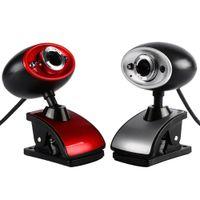 ingrosso tavoletta ad alta definizione-Hot Black / Red High Definition HD USB Webcam da 16MP con webcam digitale con microfono incorporato MIC per PC Laptop Tablet