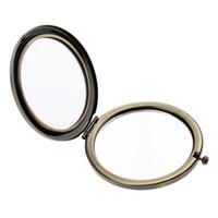 beidseitiger spiegel großhandel-Mini beidseitiger Schminkspiegel Tasche rundes Falten Vergrößerungsspiegel Normal, Handtasche Kompaktspiegel