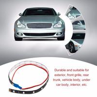10X 10DC 12V Led Strip Light 60cm 30SMD White LED Light Strips Flexible Neon Strip Tape Car Motor Light Lamp Waterproof Car Decoration