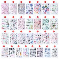 наклейка для футляра для телефона оптовых-UV Epoxy Resin Crafts Filler Sticker Floral Colorful Translucent Crystal Animal Landscape Jewelry DIY Filler Phone Case Decor