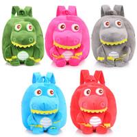 Wholesale mochila bags for sale - Group buy 5styles Baby Dinosaur Plush Backpack bag cartoon Kids Stuffed Doll Children Backpack Mochila Kindergarten children School Bags FFA1781