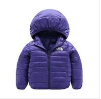 ingrosso ragazzi giù inverno parka-vendita calda di marca NF giacche invernali per bambini luce bambini bianco anatra giù cappotto giacca per bambini ragazze Parka tuta sportiva felpe con cappuccio cappotto palla