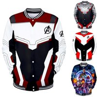 ingrosso giacca di rosa 3d-The Avengers Finale di partita di baseball 3d Bomber Jacket Cosplay Donna Uomo Costumi Supereroe Iron Man Avengers End Game Streetwear 2XS-4XL