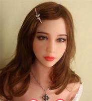 sexo brinquedo asiático venda por atacado-Novo Top Asian sexo dolll cabeça para bonecas de Silicone, chinês amor bonecas cabeça com sexo oral, tamanho completo adulto brinquedos sexuais para homens