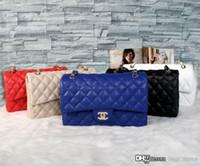 c cadenas al por mayor-Moda clásica marca diseñador mujeres del bolso de lujo del hombro C bolso de cuero bolsos Tote cadena para mujer bolsos femeninos