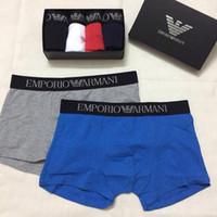 algodão orgânico underwear homens venda por atacado-Mens Boxer de Luxo Cuecas de Marca Ocasional 2019 Nova Moda Carta Designer Boxer New Mens Briefs Sexy Underwear SEM CAIXA X