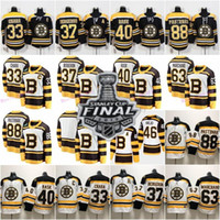 hockey jerseys оптовых-Mens Boston Bruins Финал Кубка Стэнли 2019 года 4 Бобби Орр 33 Здено Чара 37 Патрис 40 Туукка Раск Брэд Маршан Дэвид Пастрнак Хоккейные майки