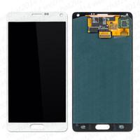 not digitizer bölümü toptan satış-50 ADET TFT LCD Ekran Dokunmatik Ekran Digitizer Meclisi Yedek Parçalar Samsung Galaxy Not 3 N9005 Not 4 N910A N910F Hiçbir Çerçeve