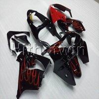 ingrosso zx9r 1998 carenatura-23 colori + regali ABS rosso fiamme cupolino moto per Kawasaki ZX-9R 1998-1999 ZX9R 98 99 Kit corpo moto
