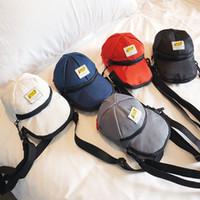 Wholesale black hat tools online - Fashion Women Oxford Hats Bag Creative Man Leisure Shoulder Crossbody Bag Cute Lady Small Phone Cosmetic Tool Bag LJJT473