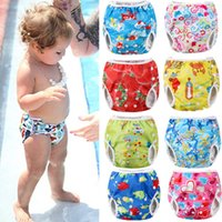 Wholesale cute boys diapers for sale - Group buy 2018 Brand New Toddler Newborn Baby Infant Boy Girls Animal Print Adjustable Swim Diaper Waterproof Swim Trunks Cute Diaper