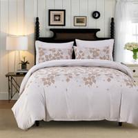 ingrosso bellissimi set di piumoni-Copripiumino set 3 pezzi morbido accogliente bella trapunta set di biancheria da letto matrimoniale king size disponibile