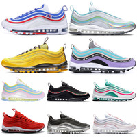 huge discount af7c7 6d6f7 Nike Air Max 97 Shoes 2019 Nouvelles chaussures de course Hommes Femmes  Maillot All-Star ND Space Purple Triple Noir Blanc Undefeated Pack Bright  Citron ...